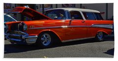 Beach Towel featuring the photograph 1957 Belair Wagon by Tikvah's Hope