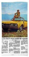 1968 Oldsmobile 4-4-2 - Here's What's Behind The Reputation. Beach Towel