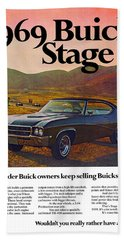 1969 Buick Gs 400 Stage 1 Beach Towel
