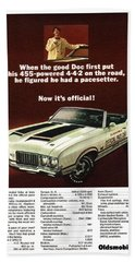1970 Olds 442 Indy 500 Pace Car Ad Beach Towel