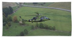 Agustawestland A109 Helicopter Beach Towel