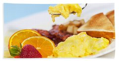 Breakfast  Beach Towel