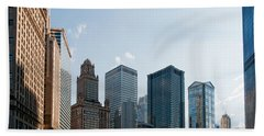 Chicago City Center Beach Towel by Carol Ailles