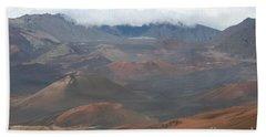 Haleakala Volcano Maui Hawaii Beach Sheet by Sharon Mau