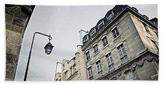 Paris Street Beach Sheet by Elena Elisseeva