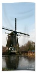 Windmill In Amsterdam Beach Towel by Carol Ailles