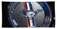 2012 Ford Mustang Trunk Emblem Beach Towel