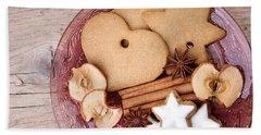 Christmas Gingerbread Beach Towel