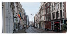 City Scenes From Amsterdam Beach Towel by Carol Ailles