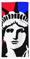 Lady Liberty Beach Towel
