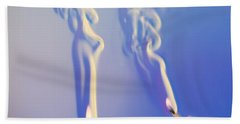 Schlieren Image Of A Candle And Match Beach Towel