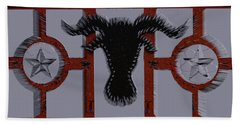 3d Cow In Spikes Beach Towel