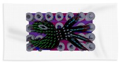 3d Fish From Hell Beach Towel