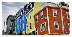Colorful Houses In St. John's Newfoundland Beach Towel