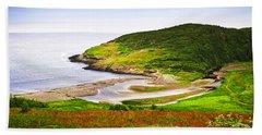 Atlantic Coast In Newfoundland Beach Towel