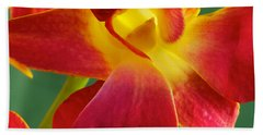 Dendribium Malone Or Hope Orchid Flower Beach Towel
