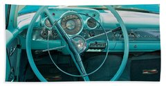 57 Chevy Bel Air Interior 2 Beach Towel