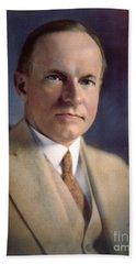 Calvin Coolidge (1872-1933) Beach Towel