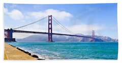 75 Years - Golden Gate - San Francisco Beach Towel