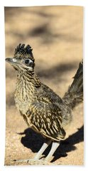 A Baby Roadrunner  Beach Sheet by Saija  Lehtonen