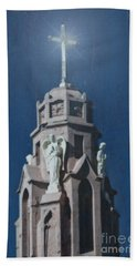 A Church Tower Beach Towel