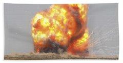 A Controlled Detonation Is Set Beach Towel