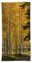 A Golden Trail Beach Towel