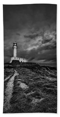 A Path To Enlightment Bw Beach Towel