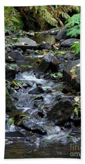Beach Towel featuring the photograph A Peaceful Stream by Chalet Roome-Rigdon