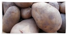 Beach Towel featuring the photograph A Pile Of Large Lumpy Raw Potatoes by Ashish Agarwal