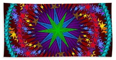 Beach Towel featuring the digital art A Riot Of Stars by Mario Carini
