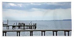 A Stormy Day On The Pamlico River Beach Towel