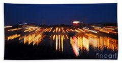 Abstract - City Lights Beach Sheet by Sue Stefanowicz