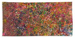 Abstract - Crayon - A Genuine Fiasco Beach Towel