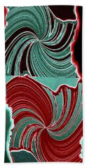 Abstract Fusion 88 Beach Towel