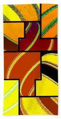 Abstract Fusion 92 Beach Towel