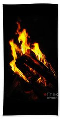 Beach Towel featuring the photograph Abstract Phoenix Fire by Rebecca Margraf