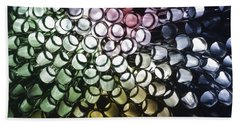 Beach Towel featuring the photograph Abstract Straws by Steve Purnell