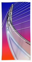 Abstract Wired Steel Arc On Rainbow Neon Beach Towel
