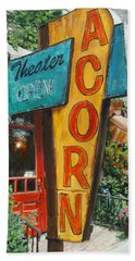Beach Towel featuring the painting Acorn Theater by William Brody