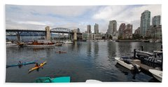Beach Sheet featuring the photograph Across False Creek by John Schneider