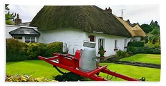 Beach Towel featuring the photograph Adare Cottage by Charlie and Norma Brock
