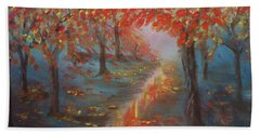 After The Rain In Autumn Beach Towel