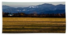 Beach Towel featuring the photograph Afternoon Shadows Across A Rogue Valley Farm by Mick Anderson