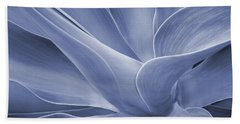 Agave In Blue Beach Towel