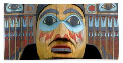 Alaska Totem Beach Towel by Mark Greenberg