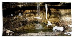Alcove Spring And Waterfall Beach Sheet