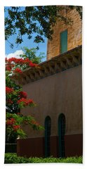Alhambra Water Tower Windows And Door Beach Towel