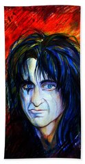 Alice Cooper  Two Faces Beach Towel