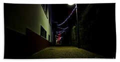 Alley With Lights Beach Towel